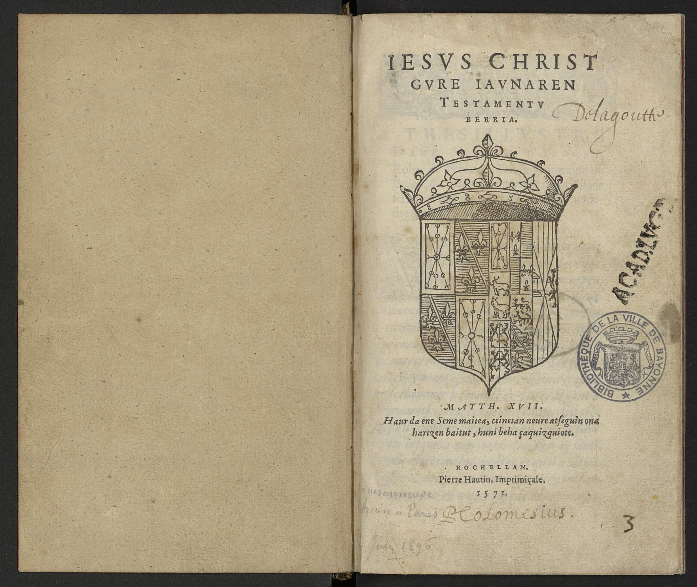 Leizarraga 1571