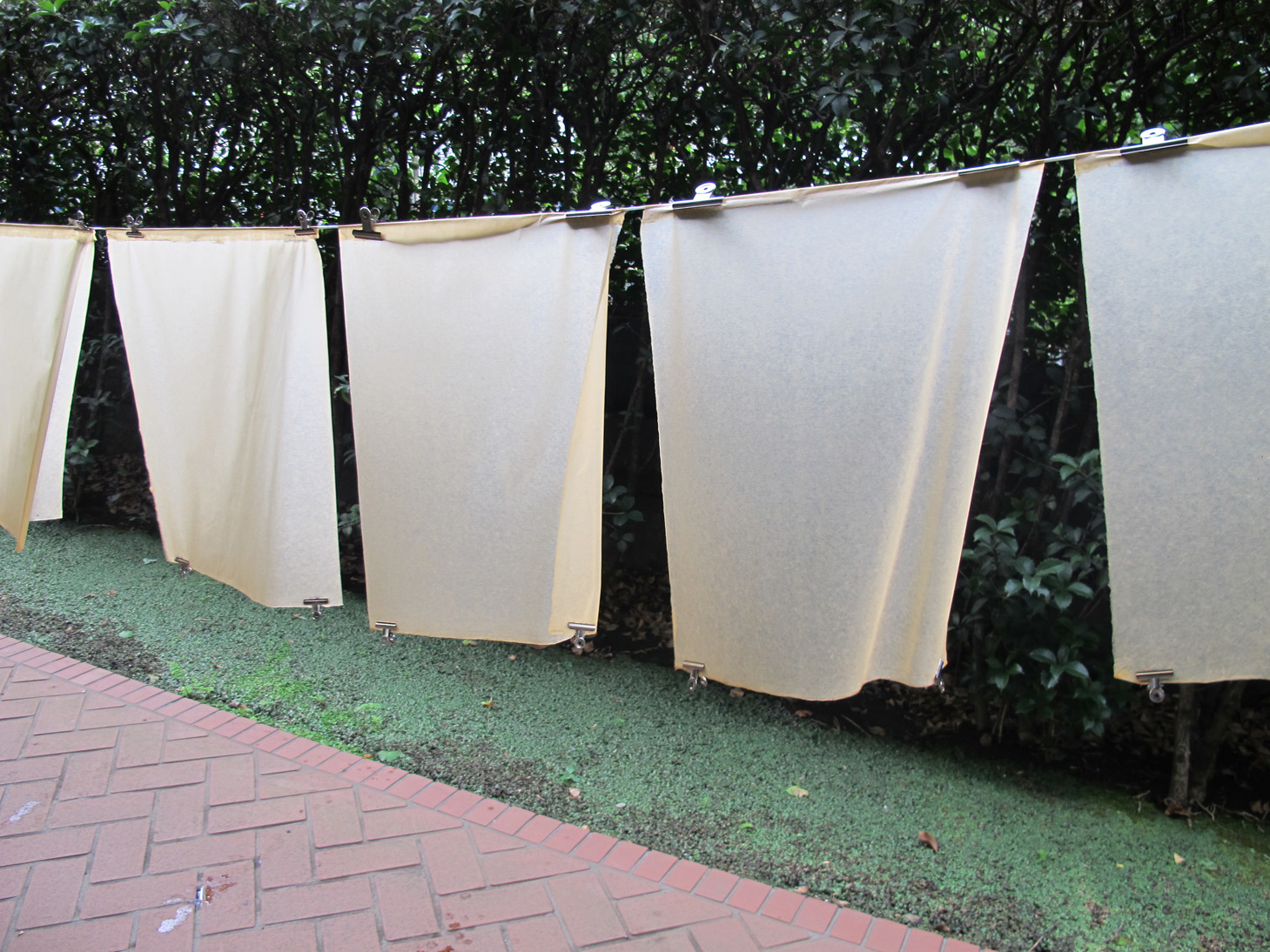 Fig. 8: Hanging washi out to dry