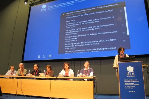 From a congress session organised by the IFLA RBSC Standing Committee at Helsinki, 2012
